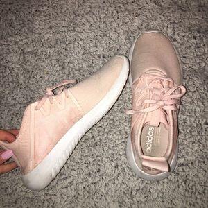Pink adidas tubular viral shoes